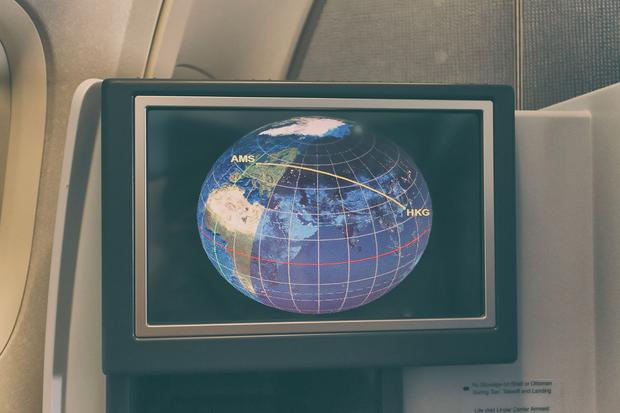 KLM 747, system rozrywki pokładowej