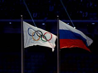 Russia and Olympic Flag File Photo