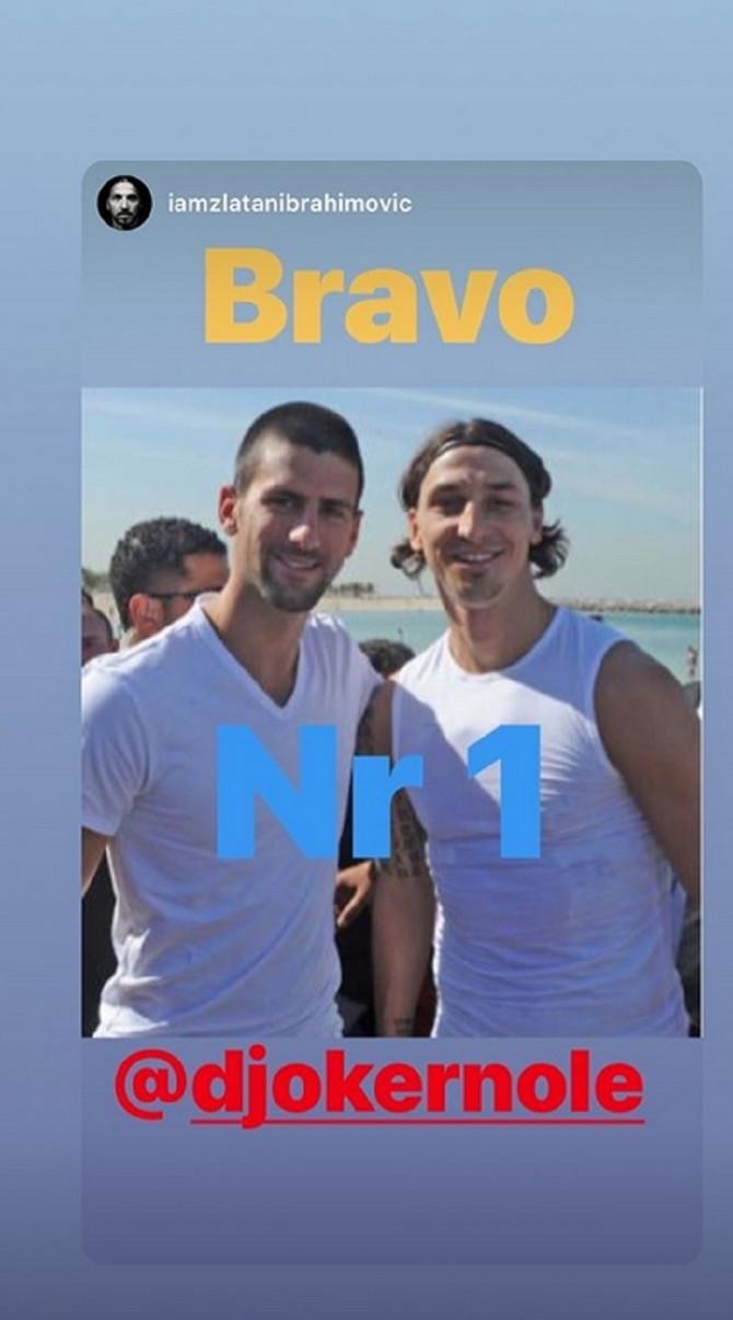 Zlatan Ibrahimović i Novak Đoković