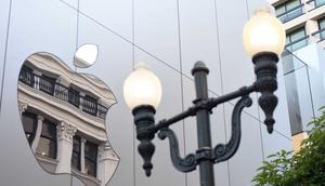 San Francisco's Apple Store.