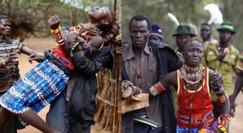In this tribe, a man must kidnap any pretty lady he likes for marriage and inform her father later