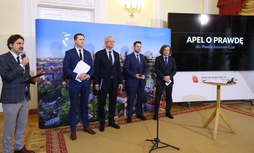 Prezydenci miast apelują o wyjaśnienie przyczyn zabójstwa Pawła Adamowicza i kontrolę w TVP