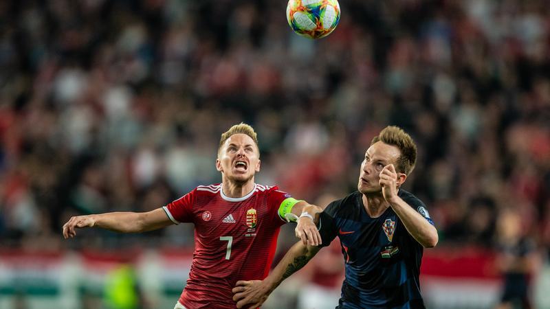 0642755e26 Századik meccsén Rakitcot (jobbra) és a horvátokat verte a csapat /Fotó:  Koncz