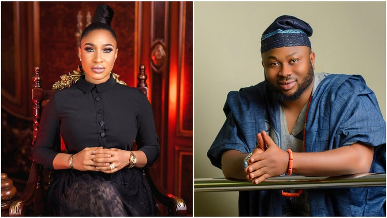Tonto Dikeh and Churchill Olakunle are at it again as they drag each other on Instagram  [Instagram/TontoDikeh] [Instagram/OlakunleChurchill]