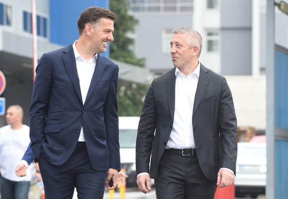 Mladen Krstajić i predsednik FSS Slaviša Kokeza