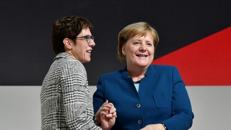 Annegret Kramp-Karrenbauer was widely seen as Merkel's chosen heir