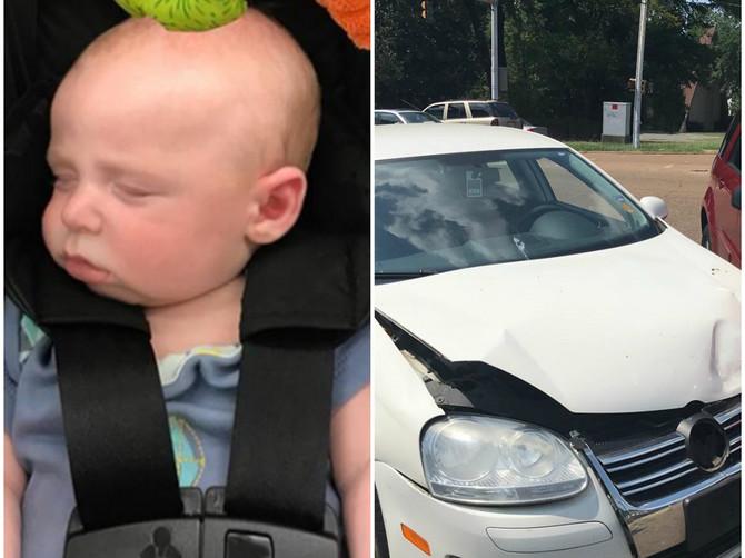 Muž mi je poslao sliku našeg sina u kolima i odmah sam primetila DETALJ zbog kog mi se kosa podigla na glavi: Upozorila sam ga i minut kasnije SVE SE ZAVRŠILO OVAKO
