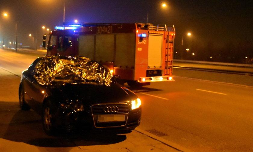 Kierowca zabił pieszą na przejściu dla pieszych na ulicy Przybyszewskiego w Łodzi