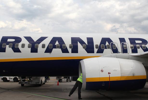 Samolot Ryanair. Fot. Bloomberg