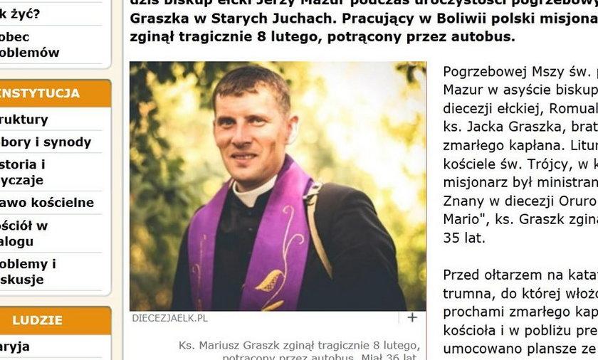 Ksiądz Mariusz Graszk.
