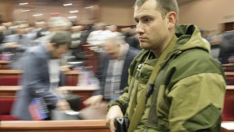 Separatyści na obradach donieckiego parlamentu