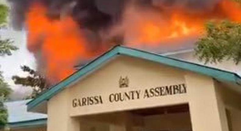 Fire breaks out at Garissa County Assembly (Video)
