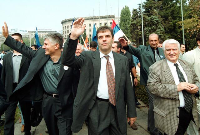 Opozicija na protestima protiv Miloševića