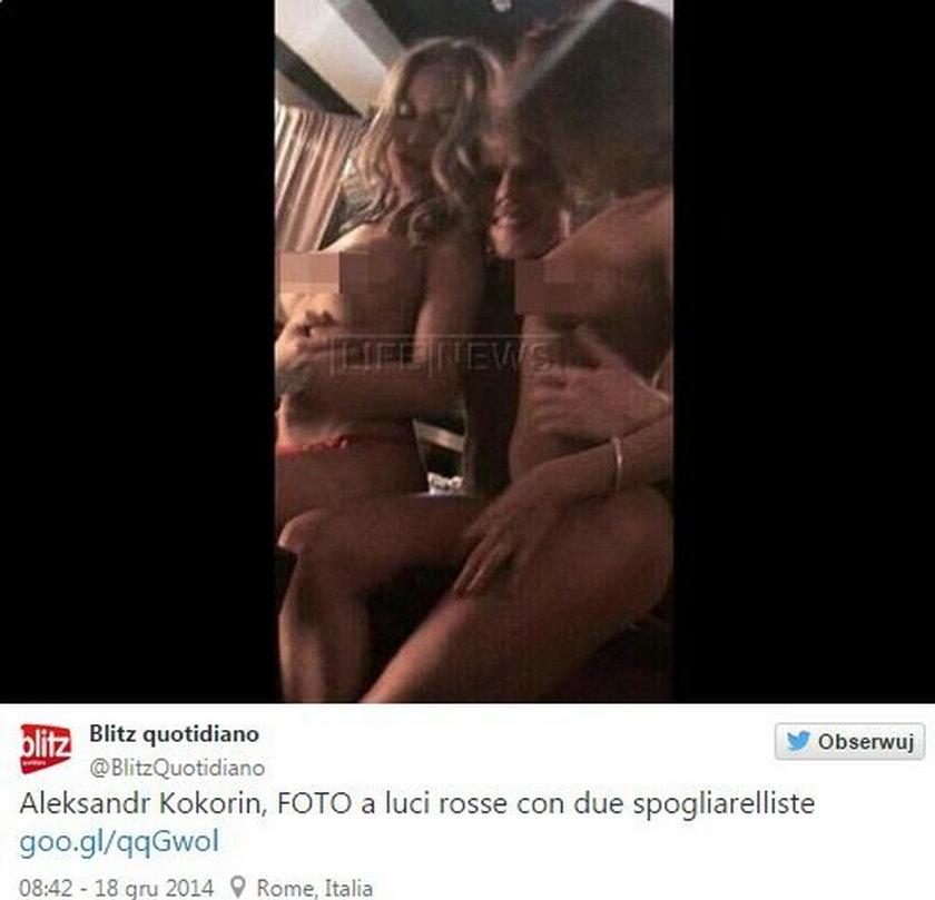 Rosyjski piłkarz zabawiał się ze striptizerkami!