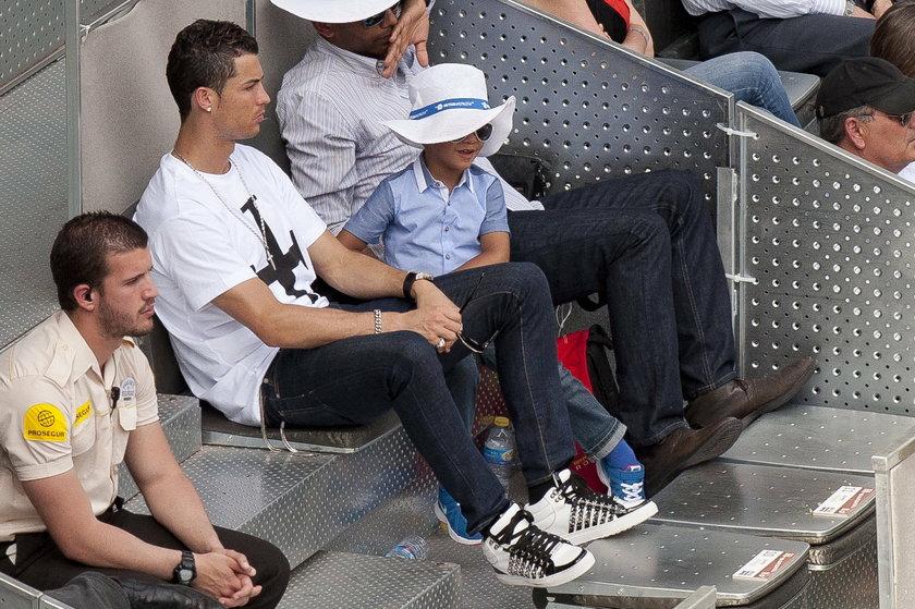 Ronaldo przegrał z synem! Grali w piłkę
