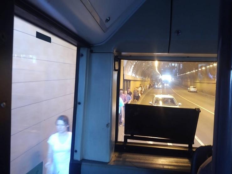 pokvaren autobus u Terazijskom tunelu
