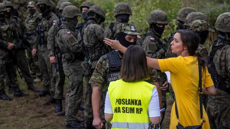 Klaudia Jachira na granicy polsko-białoruskiej