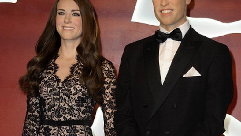 Woskowe figury księżnej Catherine i księcia Williama / fot. Getty Images