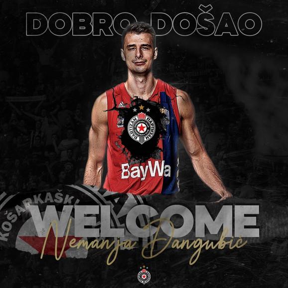 Ovako je Partizan predstavio Nemanju Dangubića