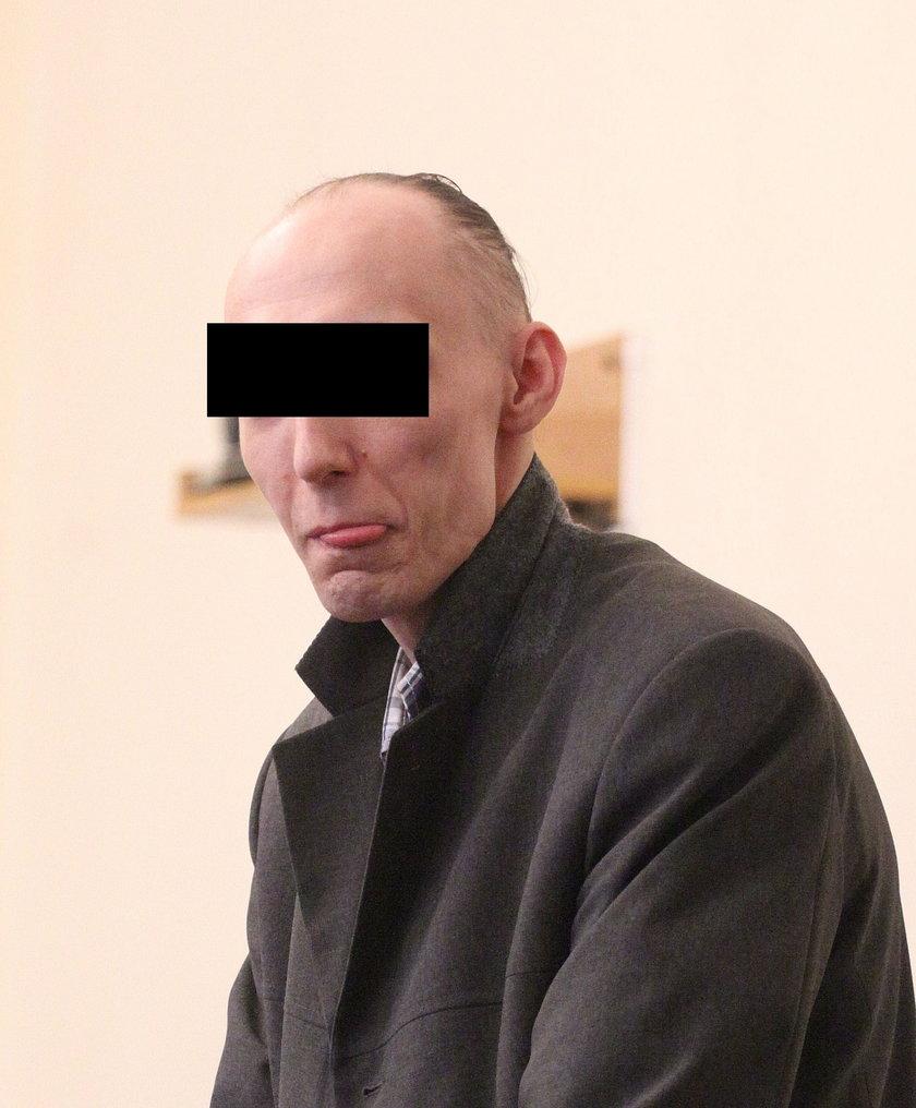 Grzegorz G. podczas procesu