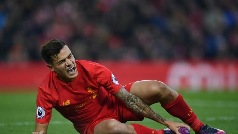 Liverpool's Philippe Coutinho sustained suspected ankle ligament damage during his team's win over Sunderland