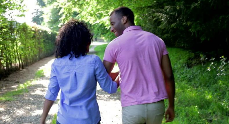 Couple walking (Shutterstock)