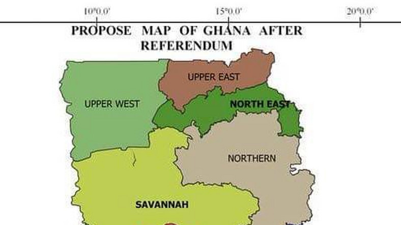Here\'s the map of Ghana after referendum [Photo] - Pulse Ghana