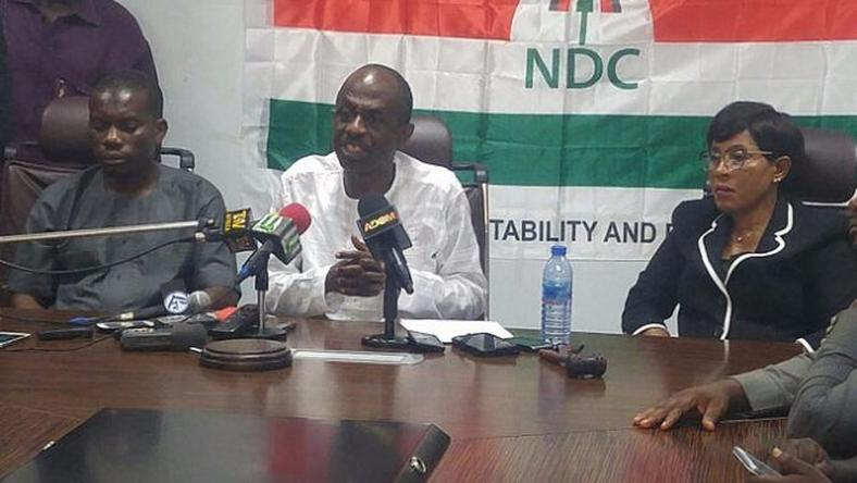 General Secretary of NDC, Asiedu Nketia (Middle)