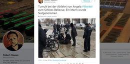 Rzucił się na Angelę Merkel, krzyczał Allahu Akbar