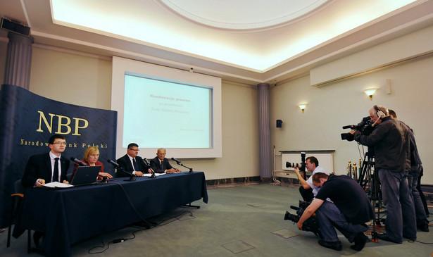Rada Polityki Pieniężnej (RPP) pozostawiła dziś stopy procentowe na niezmienionym poziomie, podał Narodowy Bank Polski. Fot. Bloomberg