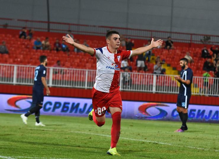 Nenad Đuričin slavi pogodak za FK Vojvodina