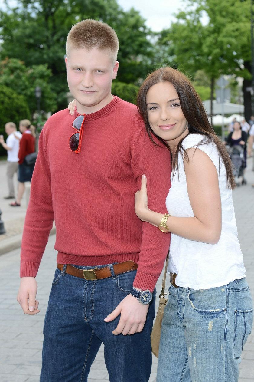 Agnieszka Włodarczyk z bratem Robertem