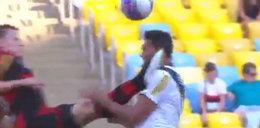 Cios karate w piłkarskim meczu i... szalona reakcja sędziego