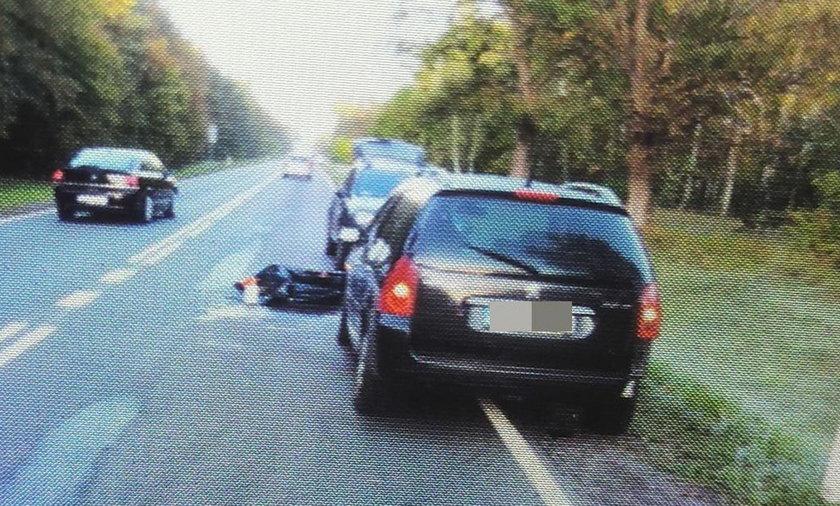 Trzy auta kontra dzik. Dwa się z nim zderzyły, a trzeci...
