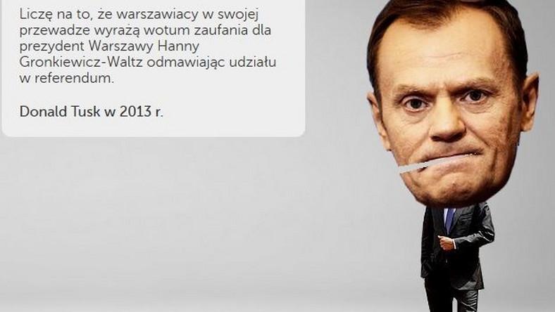 """""""Przywróć Tuskowi Pamięć"""". Gowin wypuścił grę z premierem"""