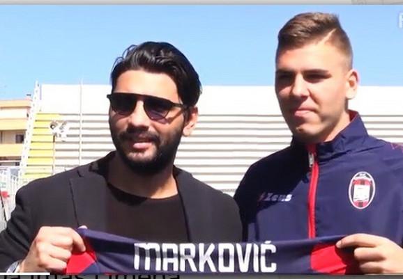 Luka Marković i generalni direktor Rafaele Vrena na promociji u Krotoneu