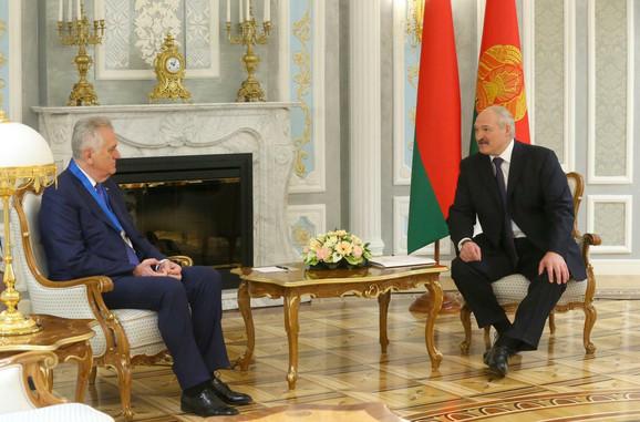 Tomislav Nikolić i Aleksandar Lukašenko tokom današnjeg susreta