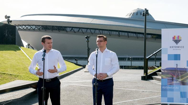 Witold Bańka i prezydent Katowic Marcin Krupa
