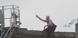 Furiat rzucał w ludzi dachówkami!