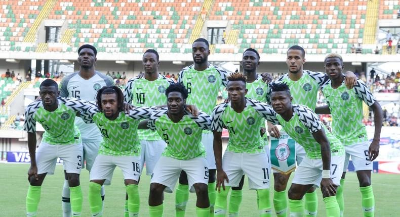 Super Eagles of Nigeria will face Sierra Leone  in a doubleheader for AFCON 2021 qualifiers(Twitter/Super Eagles)