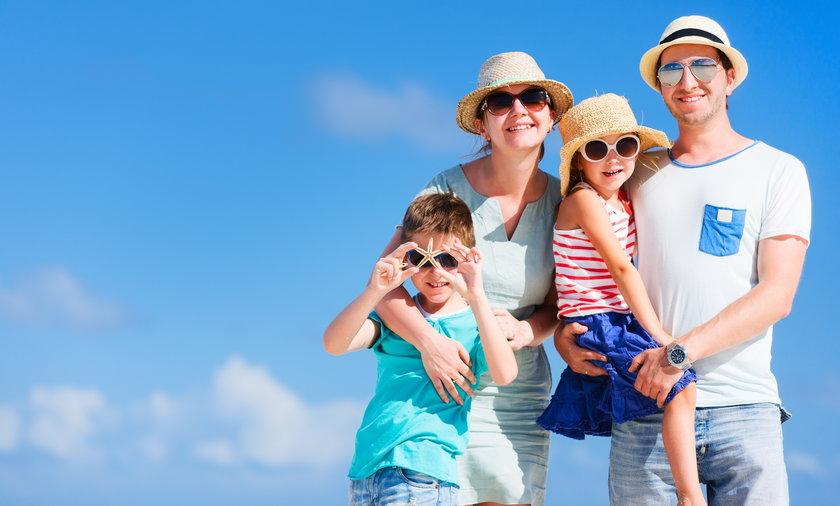 Family vacation portrait