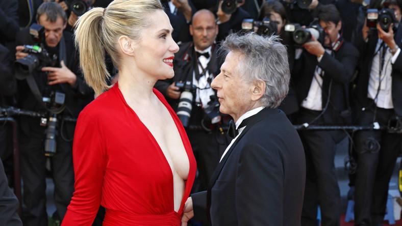 """Emmanuelle Seigner promowała w Cannes swój nowy film """"Wenus w futrze""""."""