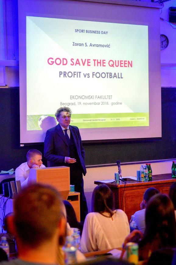 Zoran Avramović je držao predavanje studentima Ekonomskog fakulteta
