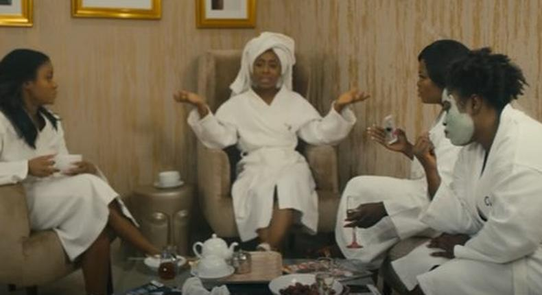 Dakore Akande and her co-stars in a scene in the movie, Isoken.