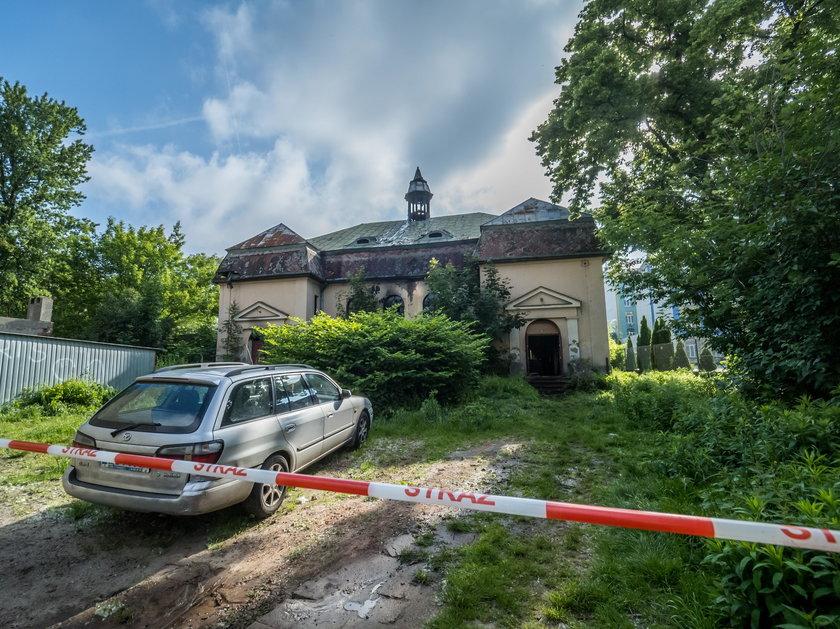 Pożar opuszczonej kaplicy w Łodzi