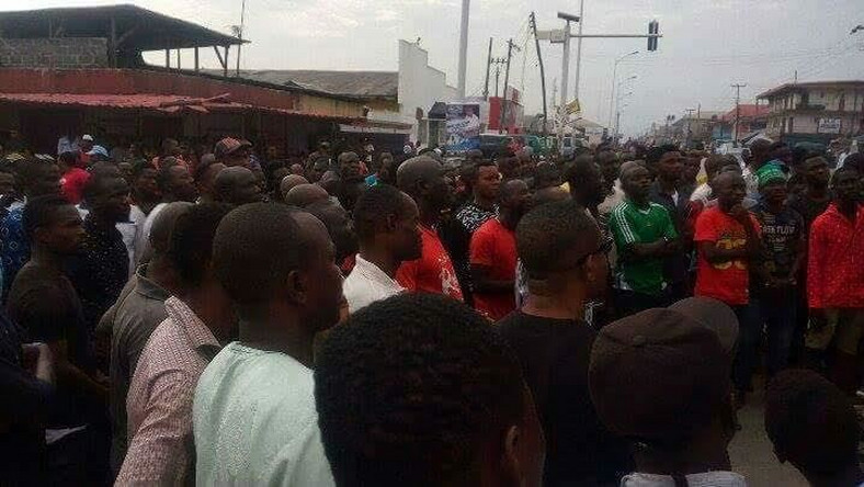 Protesters rail against poor electricity supply in Delta