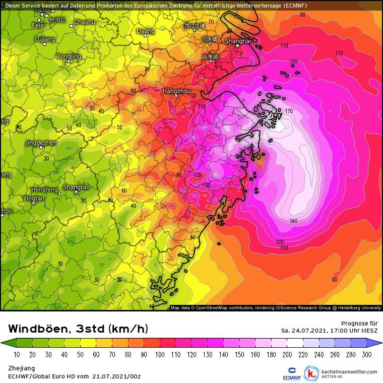 Hurikán zasiahne Čínu silným vetrom