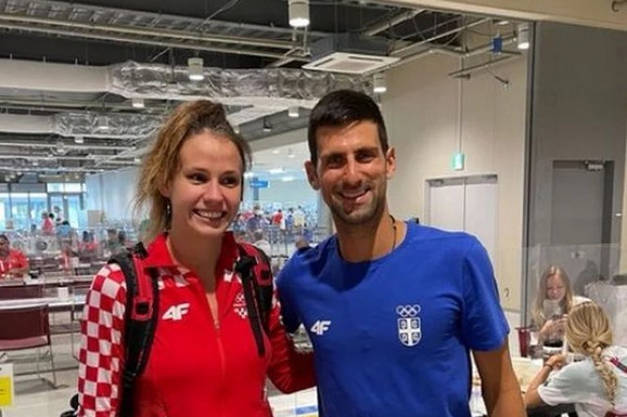 """""""Kako ovo nekome MOŽE DA NE BUDE LEPO?"""": Prelepa Hrvatica koja je uzela zlato zagrlila Noleta u Tokiju i mreže su se USIJALE"""