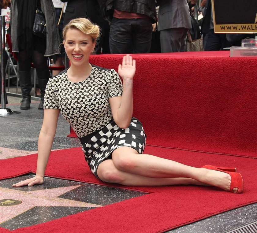 Scarlett Johansson Aleja Gwiazd w Hollywood
