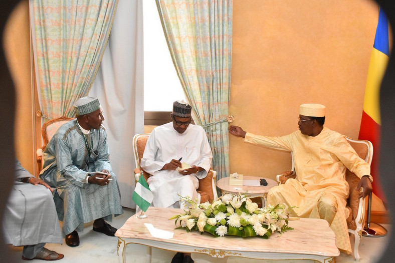 President Buhari and President Idris Deby Itno of Chad hold bilateral meeting in Makkah, Saudi Arabia on the margins of the Organisation of Islamic Cooperation (OIC) Summit (Twitter NGRPresiden)